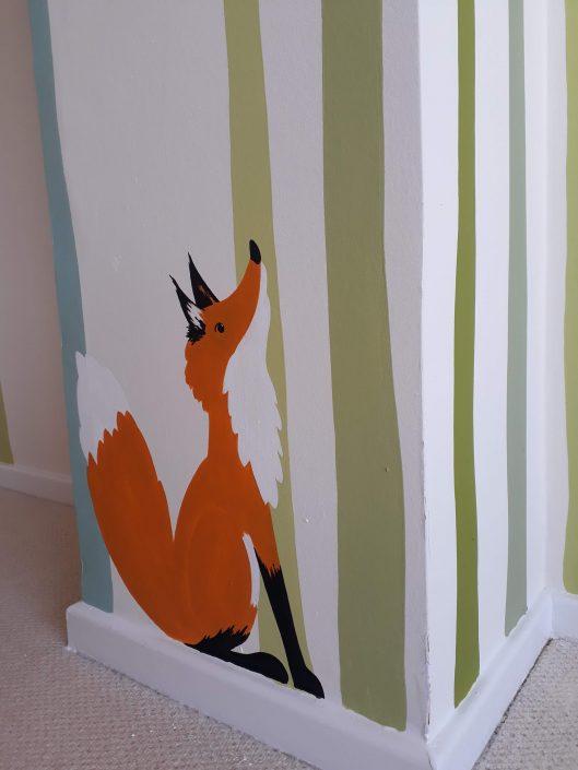 woodland-trees-fox-bedroom-wall-mural-detail