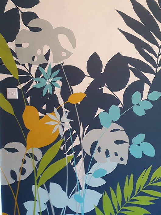 tropical-leaf-kitchen-dining-wall-mural