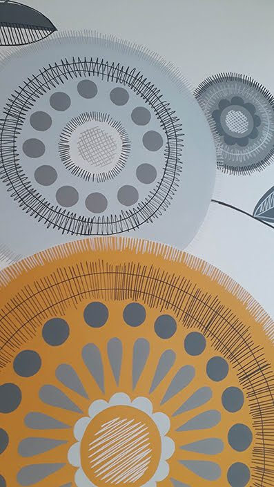 retro-floral-kitchen-wall-mural-details-yellow-grey