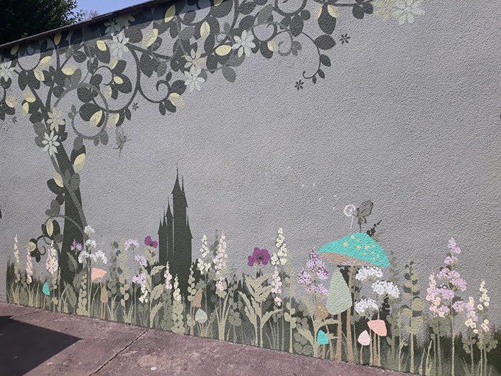 fairy-castle-garden-wall-mural-flowers-tree